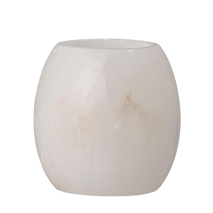 Fyrfadsstage Hvid Alabaster