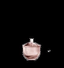 Bonbonkrukke Pustet Glas Burgundy Ø8 cm