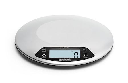 Profile vægt med timer Sølv