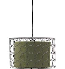 Taklampa Ring Svart/Grön