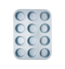 Stampo muffin antiaderente 12 pz blu