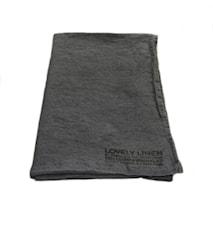 Lovely linen hamam håndduk – Dark grey