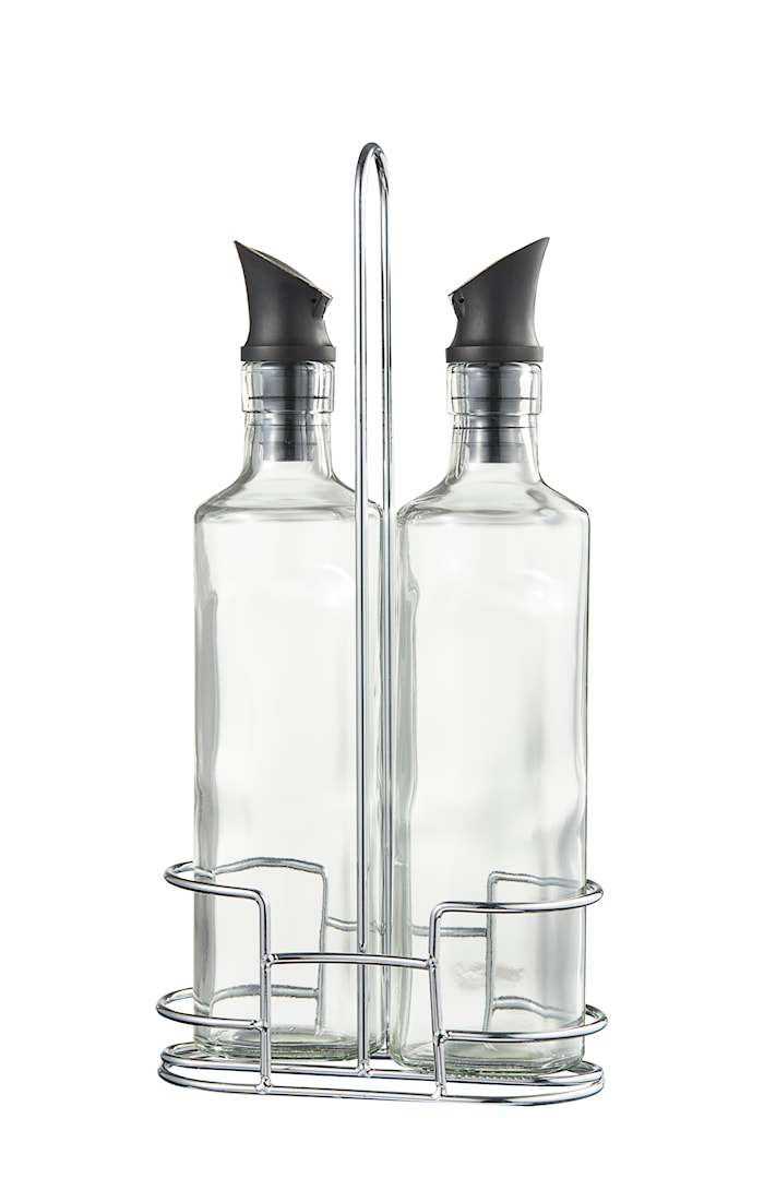 Olive Olja vinäger set 35 cl silikon rostfritt 2st 26,6,6 cm ställning