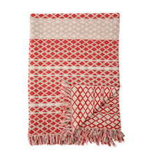 Blanket Red Recycled Cotton