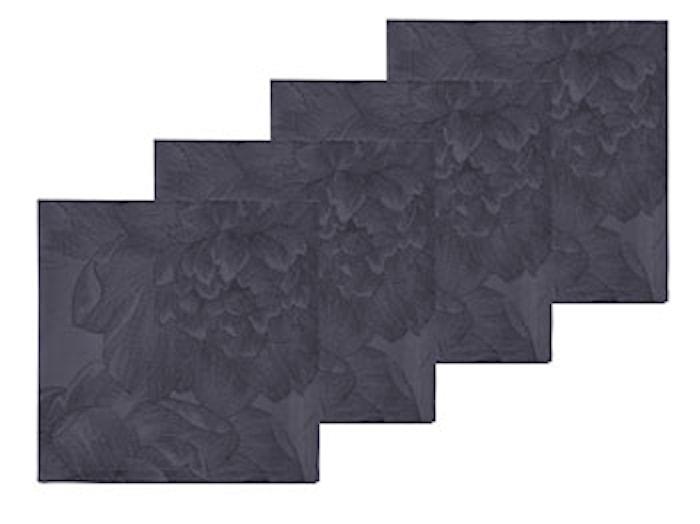 Tygservett Modern Ros grå 4 st