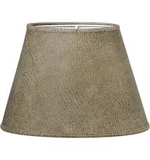 Lampskärm Oval Läder Beige