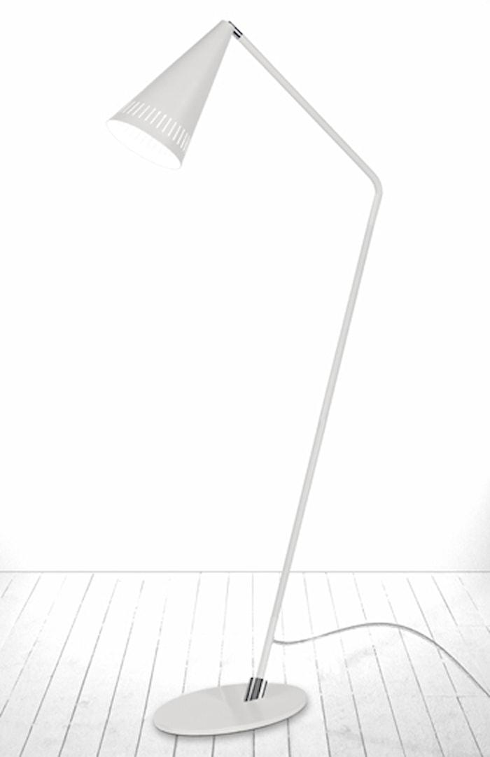 Gulvlampe Pipe Hvit