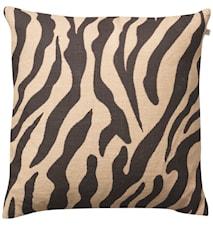Zebra  Kudde Linne Beige/Svart 50x50 cm