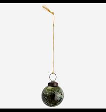 Glasboll Hängande Grön Marmorerad