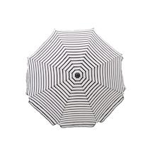 Oktogon Parasoll 180 cm Svart/Vit