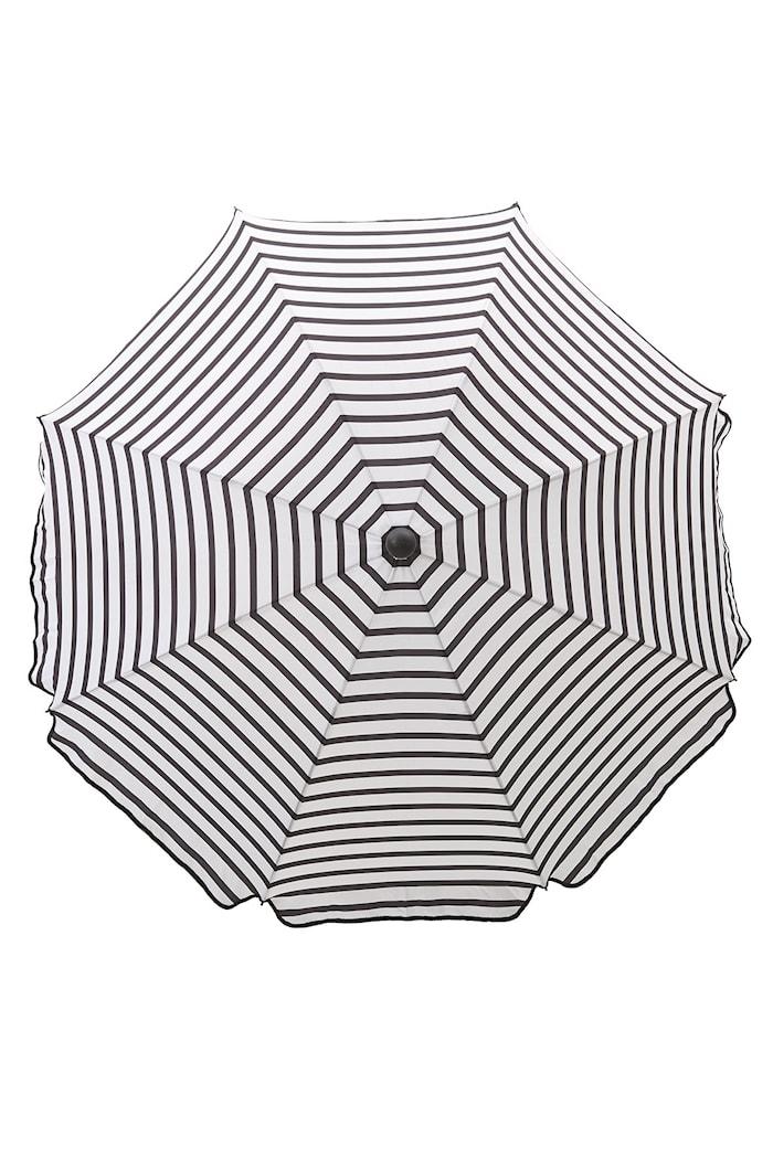 Parasol octogone 180 cm noir/blanc