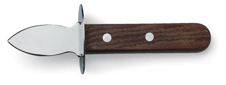 Ostronkniv med handskydd brunt trähandtag
