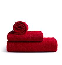 Mafalda stort badehåndklæde, rød