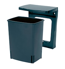 Rubbish Bin Rectangular [incl. wall fastening] 10 L Black