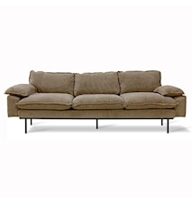 Retro Soffa 4-sits corduroy rib Brown