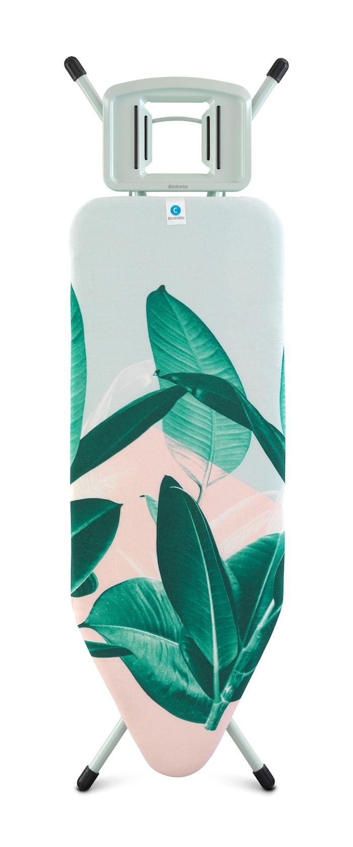 Strykbord Stl C med Solid Ångstrykjärnshållare Tropical Leaves