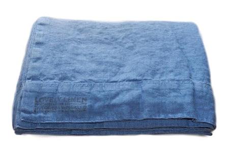 Lovely linen påslakan Denim blue