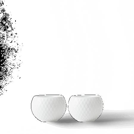 Rhombe Ljuslykta Vit Ø6,5 cm 2-Pack