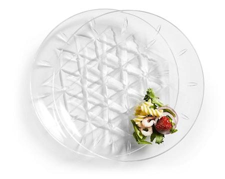 Piknik Tallerken Transparent 26 cm 2-pakning