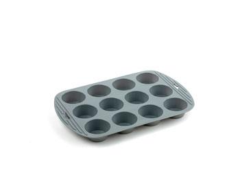 Muffinsform med 12 hål Silikon Grå