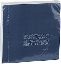 Servett citat 40x40cm Blå