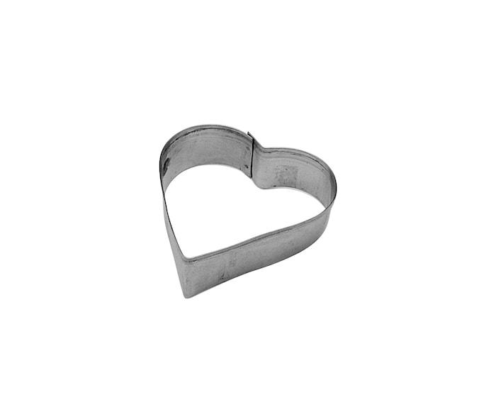 Kagetryk 8cm Stål, Hjerte