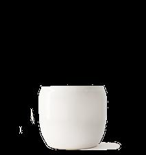 Kruka Glaserad Keramik 14x12 Cm Vit