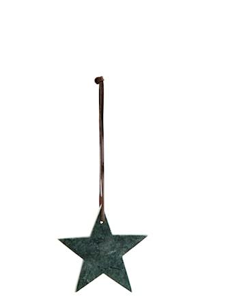 Stjärna Ø 9 cm Grön
