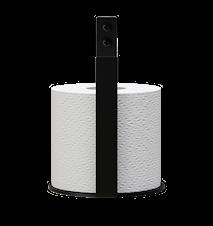 Toalettpappershållare Extra Svart