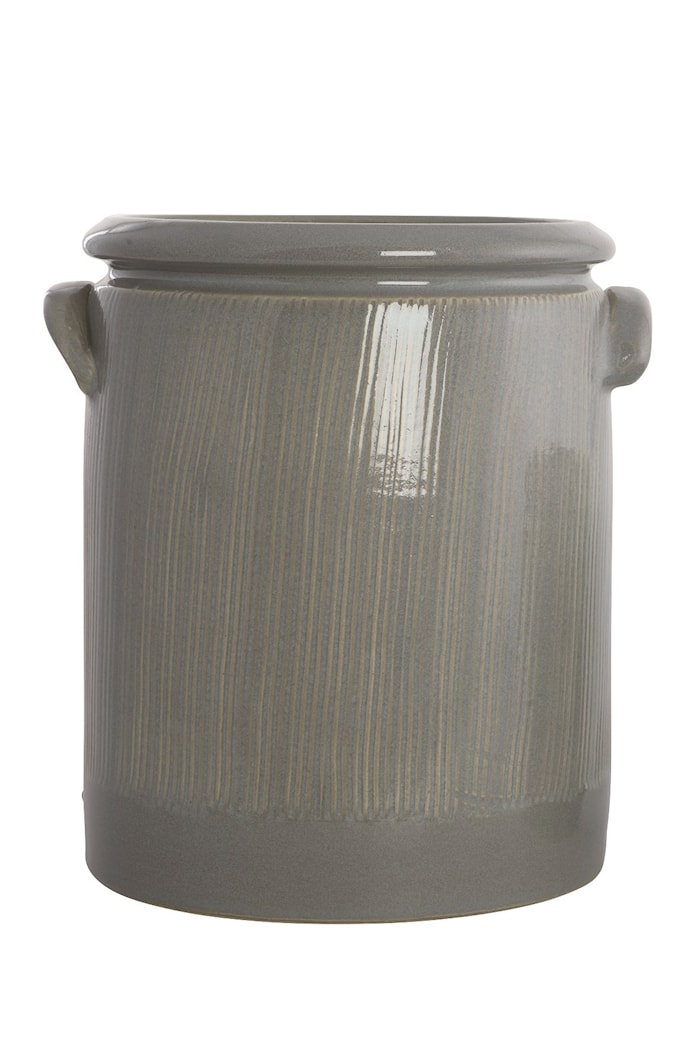 Blomkruka Pottery 24cm Ljusgrå