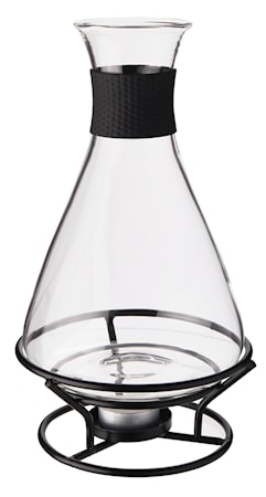 Rosita Glöggkaraff glas svart smidesställnnig rymd 1L