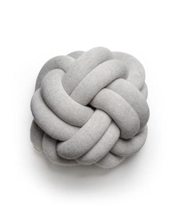 Knot Kudde Ljusgrå