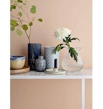 Vase Glas Ø 10 cm - Blå
