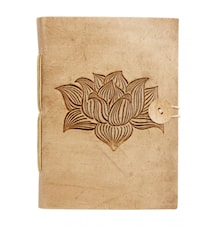 Notebook, Lotus flower, leather, small