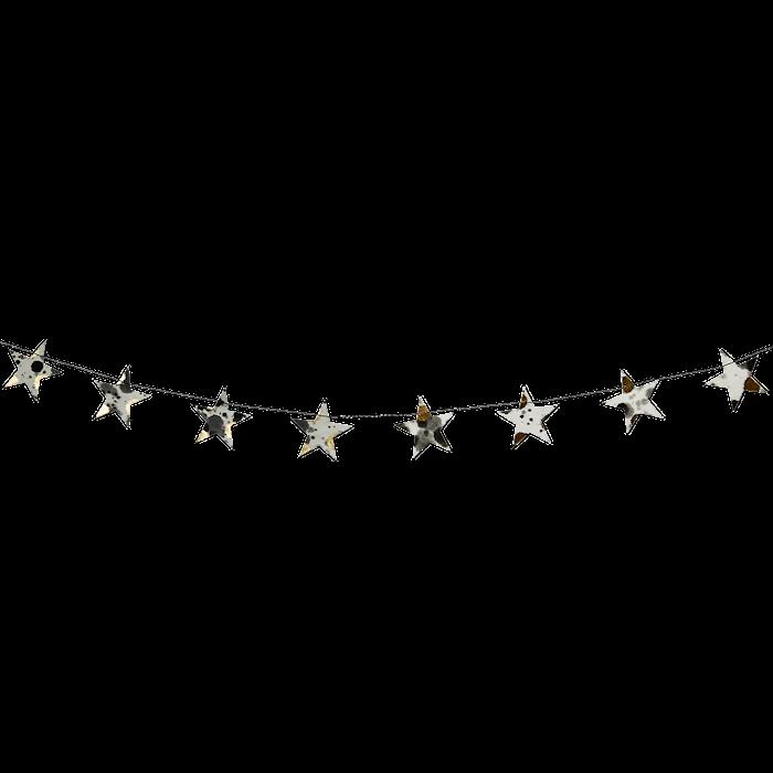 Printet stjerne guirlande