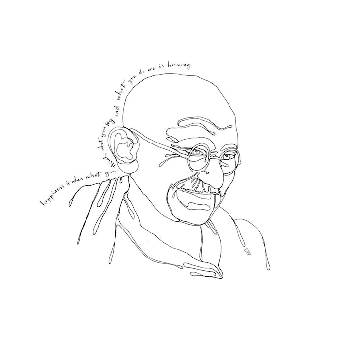 Juliste LW Icons Mahatma Ghandi