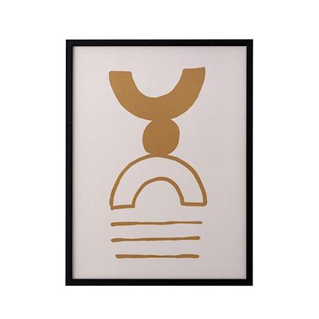 Ram Svart Tall Brun abstrakt