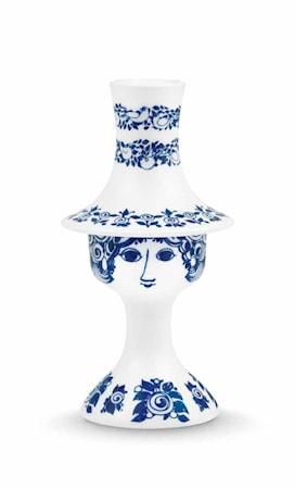 Lysestage, Rosalinde, blå, H 16,5 cm