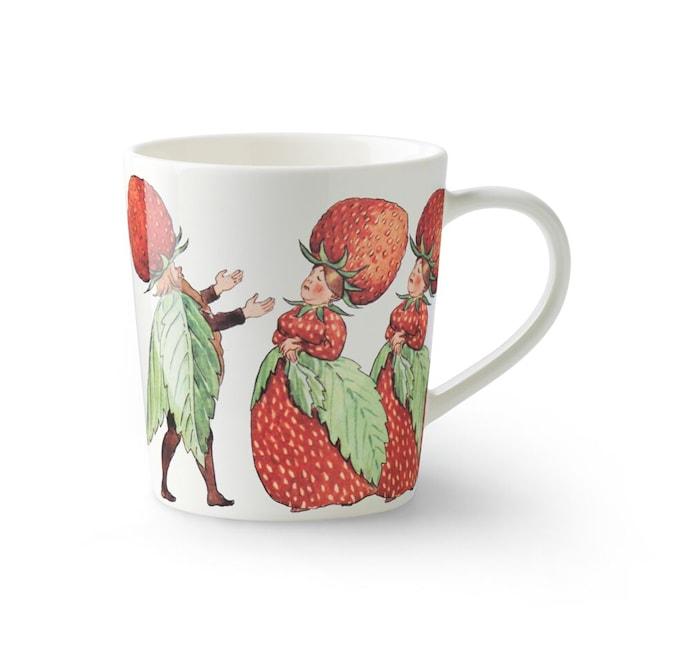 Elsa Beskow Krus med håndtag Familien Jordbær 40 cl