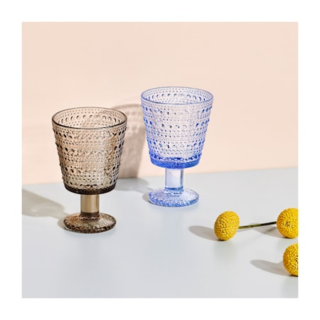 Kastehelmi Glas på fot Aqua 26 cl 2 st