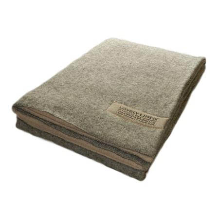 Double blanket wool/linen filt