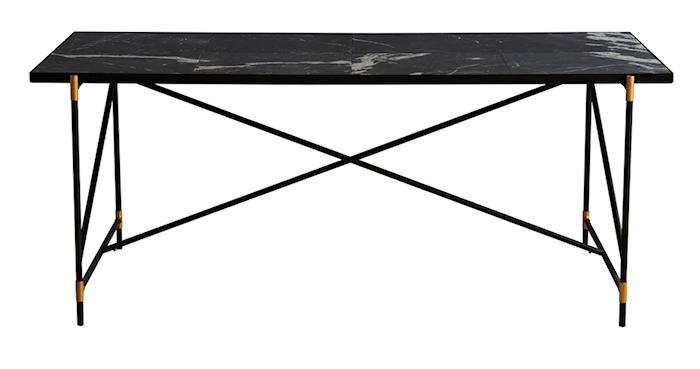 Dining table 185 cm mässing matbord