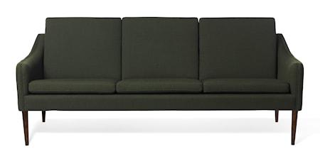 Mr. Olsen 3-sitssoffa Dark Green Valnöt