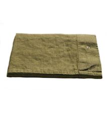 Lovely linen putetrekk – Jeep green, 40x80