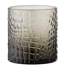 Lysestake Grå Glass 8,5x9 cm