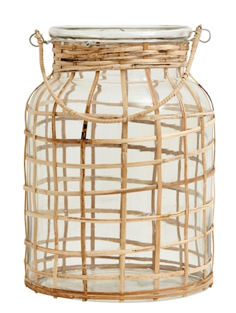 Bamboo Ljusstake Glas Large
