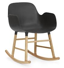 Form rocking chair stol med armlene eik - Black