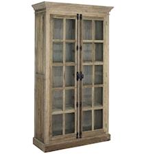 Elmwood cabinet vitrinskåp Brun