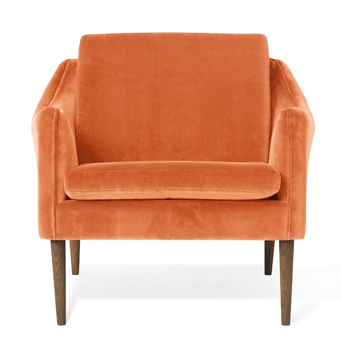 Mr. Olsen Lounge Chair Rusty Rose Sammet Smoked Ek