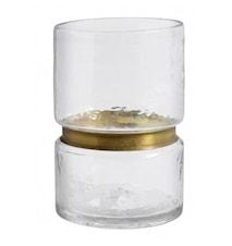 RING Vase / Teelichthalter Glas Klar L